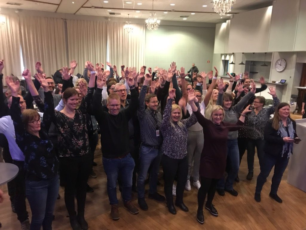 Gruppebilde av de ansatte ved NAV Økonomi pensjon Harstad