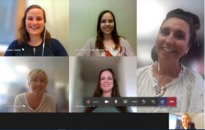 Bilde av møte på Teams med gjengen som arbeider med NAV Jobblyst
