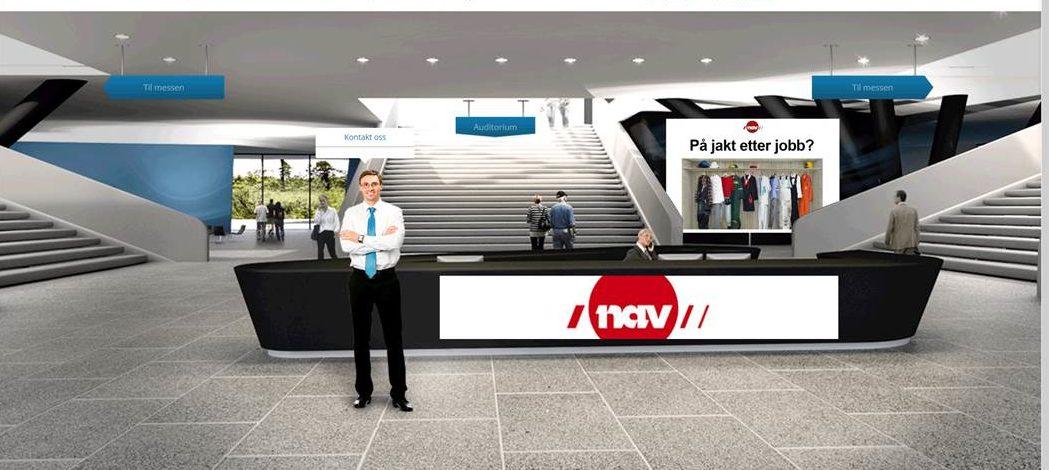 JOBBMESSE: Slik så det ut da jobbsøkerne logget seg inn på den digitale jobbmessen.