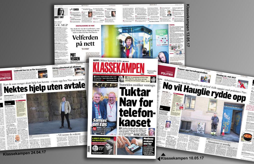 Faksimiler fra avisinnlegg om NAV