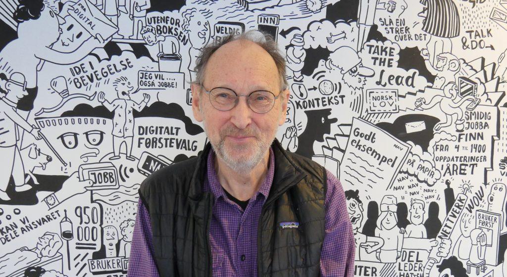 AKTIV PENSJONIST: Organisasjonspsykolog Paul Moxnes (76) står bak kurset «Samspill og ledelse», som har vært tilbudt på BI og AFF i en årrekke. Nå er tre av de fem kursmodulene blitt til «Samspill og ledelse i NAV».