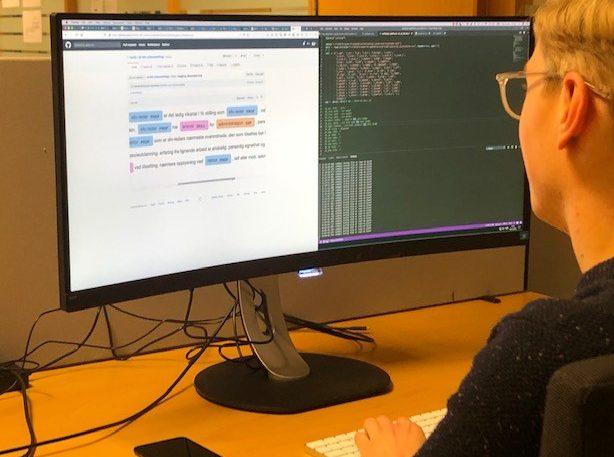 I NAVs AI-lab fikk studenter bruke maskinlæring på stillingsannonser. (Foto: Cathrine Pihl Lyngstad)