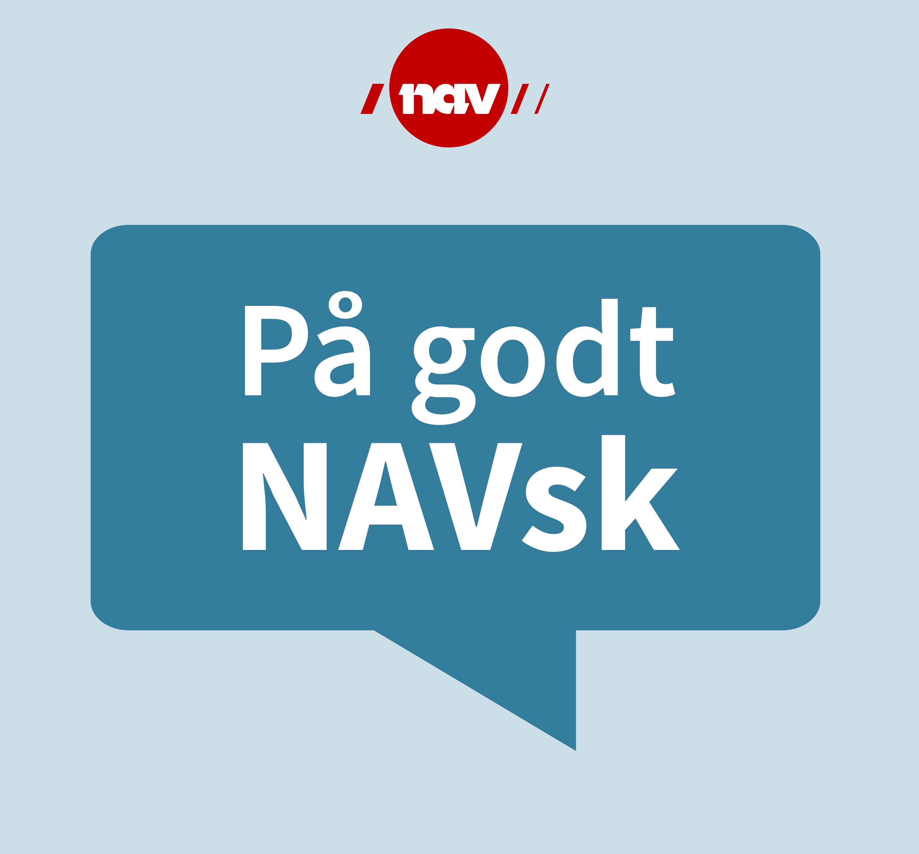 """NAV-ORD I SØPLA: I podkasten """"På godt NAVsk"""" inviteres en gjest til å kaste et ord i søpla."""