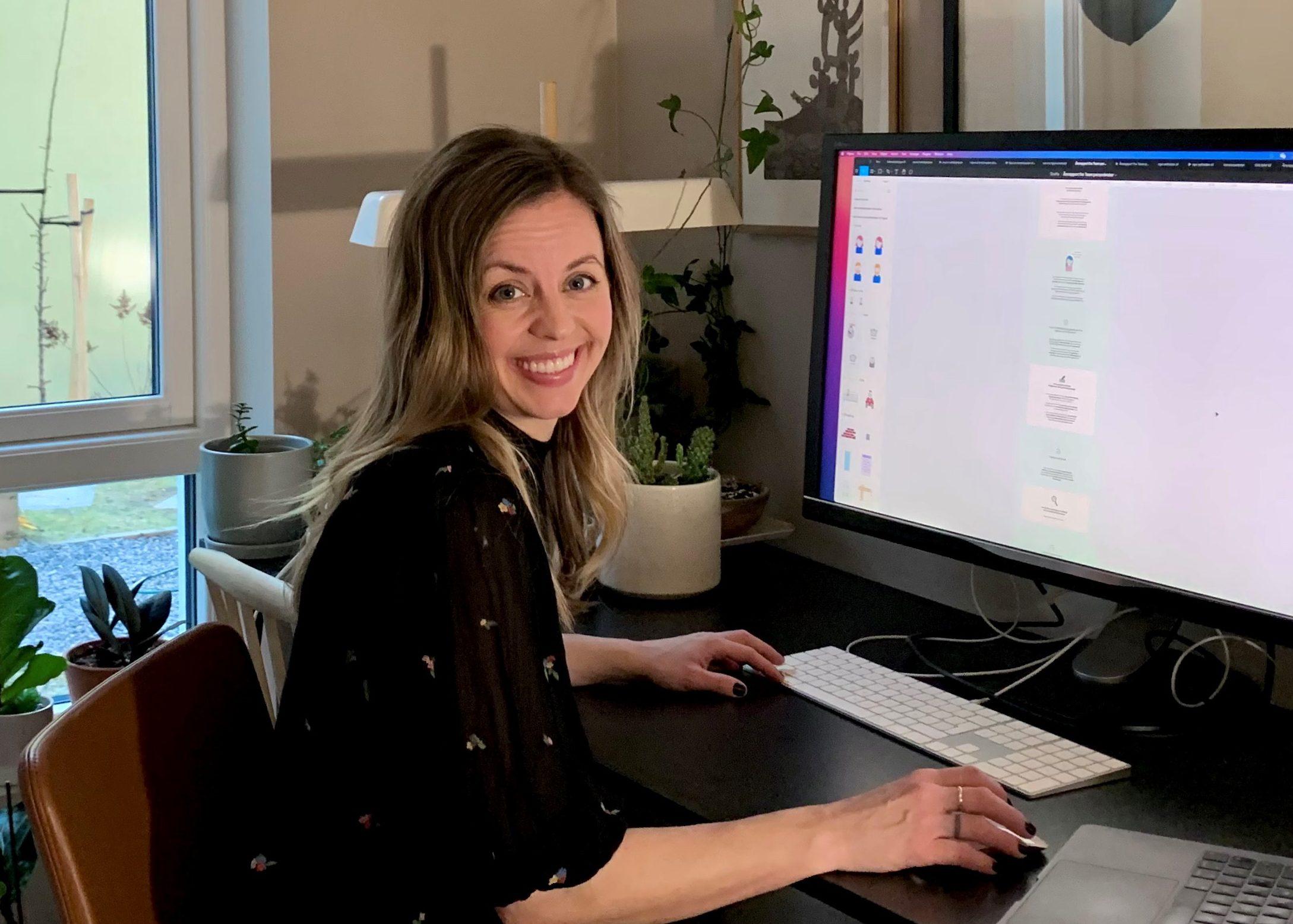BEDRE BRUKEROPPLEVELSER: Tuva Sverdstad i NAVs IT-avdeling og hennes kolleger i Team personbruker, som jobber hver dag med å forbedre nav.no. (Foto: Privat)
